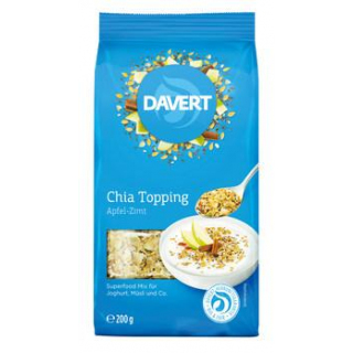 Davert Chia Topping Apfel-Zimt, 200 gr Packung