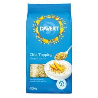 Davert Chia Topping Mango-Lucuma, 200 gr Packung