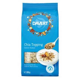 Davert Chia Topping Dattel-Kakao, 200 gr Packung