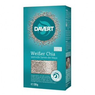 Davert Weißer Chia, 210 gr Packung