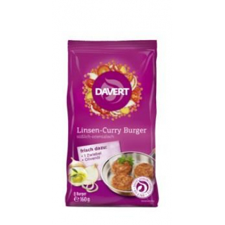 Davert Linsen-Curry Burger, 160 gr Packung
