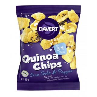 Davert Quinoa Chips Sea Salt & Pepper, 35 gr Packu