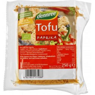 dennree Tofu Paprika, 200 gr Stück