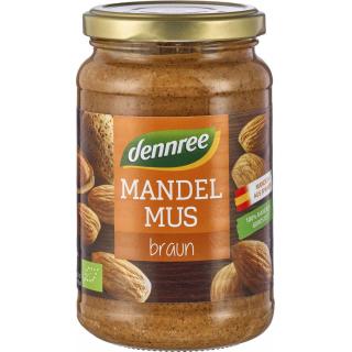 dennree Mandelmus braun, 350 gr Glas