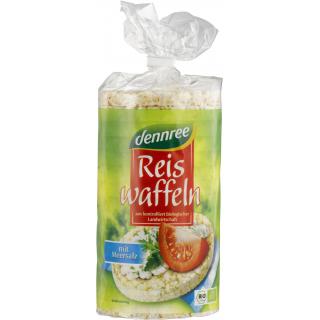 dennree Reiswaffeln mit Meersalz, 100 gr Packung -