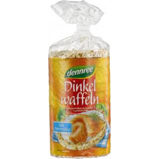 dennree Dinkelwaffeln mit Meersalz, 100 gr Packung