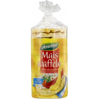 dennree Maiswaffeln mit Meersalz, 110 gr Packung -