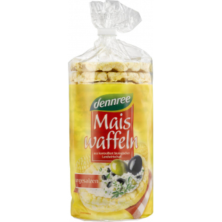 dennree Maiswaffeln ungesalzen, 110 gr Packung -gl