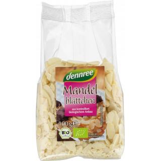 dennree Mandelblättchen, 100 gr Packung