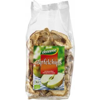 dennree Apfelchips, 90 gr Packung