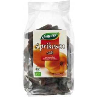 dennree Aprikosen, ganze Frucht, süß, entsteint, T