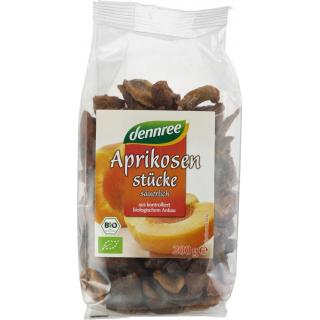 dennree Aprikosenstücke, säuerlich, entsteint, Tür
