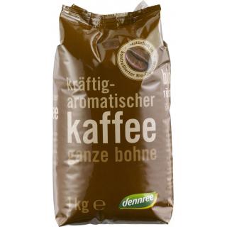 dennree Röstkaffee, ganze Bohne, 1 kg Packung