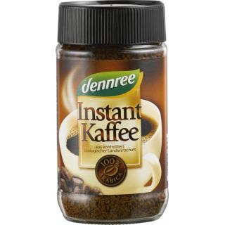 dennree Instant Kaffee, 100 gr Glas