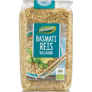 dennree Basmati-Reis Vollkorn, Indien, 500gr Packu