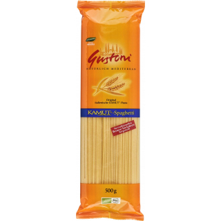 Gustoni Kamut-Spaghetti, bronze, 500 gr Packung -