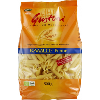 Gustoni Kamut-Penne, bronze, 500 gr Packung - hell