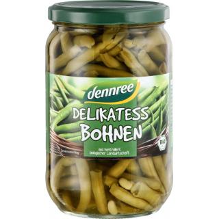 dennree Delikatess-Bohnen, 660 gr Glas (345 gr)