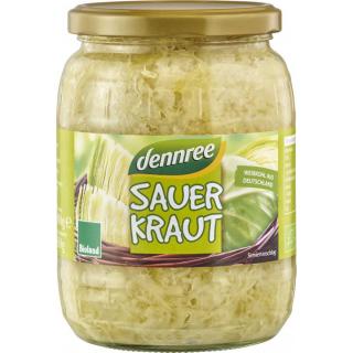 dennree Sauerkraut, 680 gr Glas (650 gr)