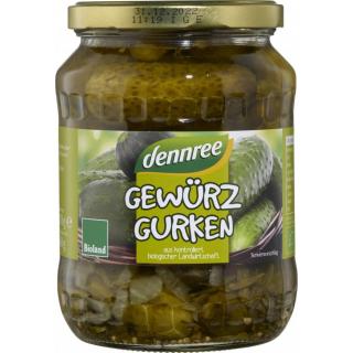 dennree Gewürzgurken, 670 gr Glas (360gr)