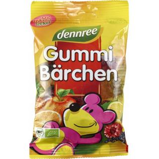 dennree Gummi-Bärchen, 100 gr Packung -mit bio Gel