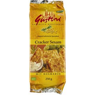 Gustoni Cracker Sesam, mit Rosmarin, 250 gr Packun