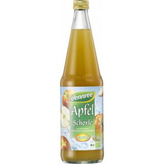 dennree Apfel-Schorle naturtrüb, 0,7 ltr Flasche