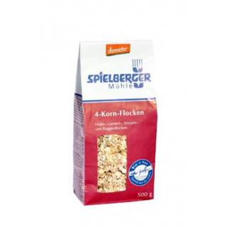 Spielberger 4-Kornflocken, 500 gr Packung