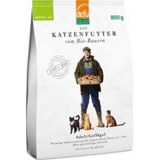 Defu Biofutter Katzenfutter Geflügel Adult, 800 gr