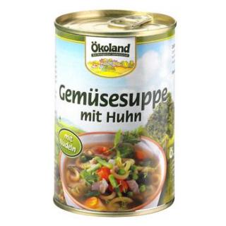 Ökoland Gemüsesuppe mit Geflügel -hefefrei-, 400 g