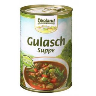 Ökoland Gulaschsuppe -hefefrei-, mit Rindfleisch,