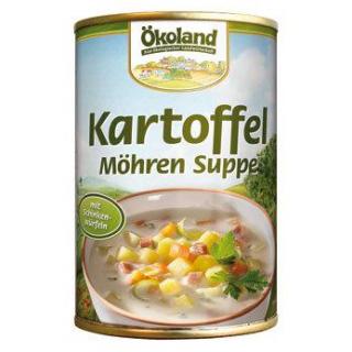 Ökoland Kartoffel-Möhren-Suppe mit Schinkenwürfeln
