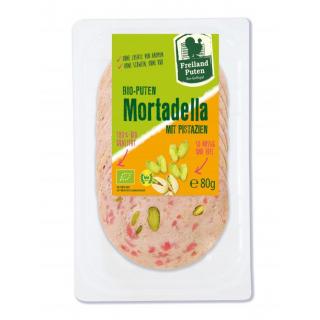 Freiland Puten Bio-Geflügel Puten-Mortadella, 80 g