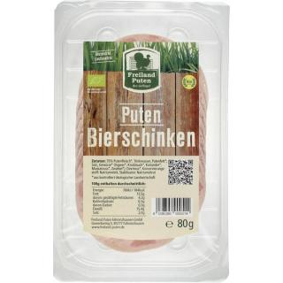 Freiland Puten Bio-Geflügel Puten-Bierschinken, 80