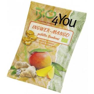 Bio4you Ingwer-Mango Bonbons, 75 gr Packung