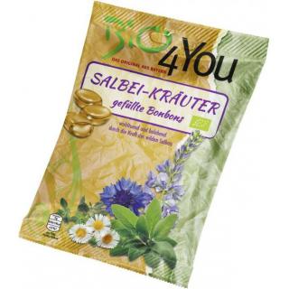Bio4you Salbei-Kräuter Bonbons, 75 gr Packung