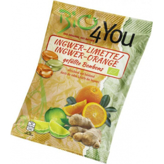 Bio4you Ingwer-Limette & Ingwer-Orange Bonbons, 75