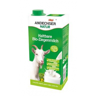 Andechser Natur H-Ziegenmilch, 1 ltr Tetra Pack ul