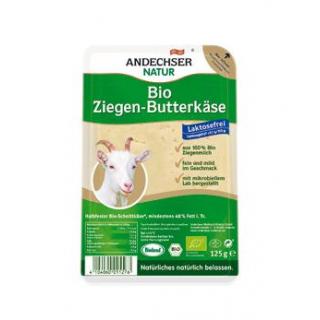 Andechser Natur Ziegenbutterkäse in Scheiben, 125