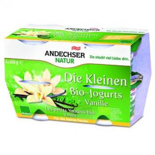 Andechser Natur Die Kleinen Bio-Jogurts Vanille, 4