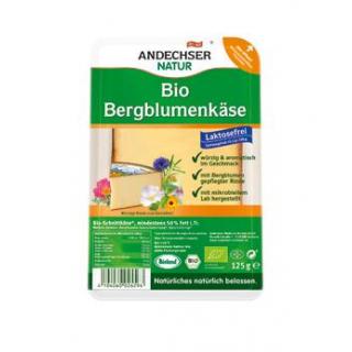 Andechser Natur Bergblumenkäse in Scheiben, 125 gr