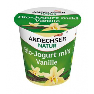 Andechser Natur Fruchtjogurt Vanille, 150 gr Beche
