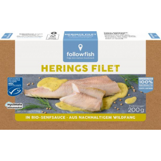 followfish Heringsfilet, in Bio-Senfsauce, , 200 g