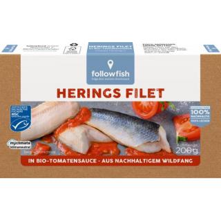 followfish Heringsfilet in Bio-Tomaten, 200 gr Dos