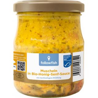 followfish Muscheln in Senf Sauce, 200 gr Glas