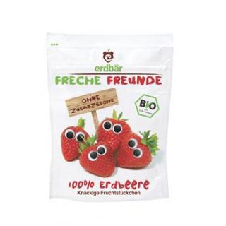 erdbär Freche Freunde Fruchtchips Erdbeere, 12 gr