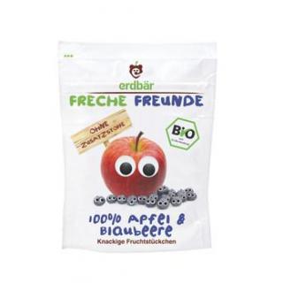 erdbär Freche Freunde Fruchtchips Apfel / Blaubeer