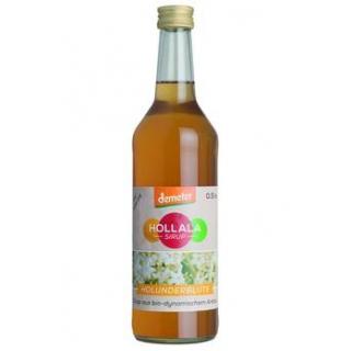 Hollala Demeter Sirup Holunderblüte, 0,5 ltr Flasc