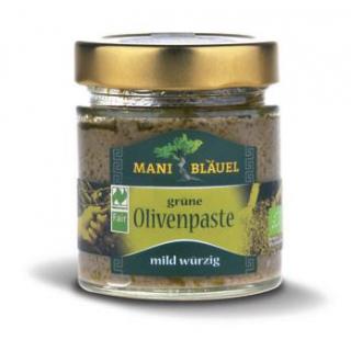 Mani Bläuel Grüne Olivenpaste, 180 gr Glas