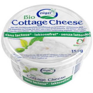Frischkäserei Züger Hüttenkäse laktosefrei, 150 gr